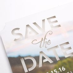 Let your favorite photo be the inspiration. For an elegant look add your shot to a laser-cut design. Save the date before the wedding invitations. Save The Date Invitations, Save The Date Cards, Wedding Invitations, Wedding Engagement, Our Wedding, Dream Wedding, Wedding Stuff, Wedding Stationary, Wedding Wishes