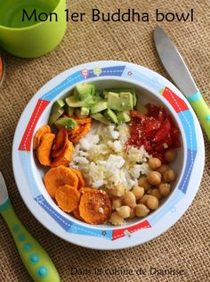 Vegan buddha bowl for month baby Baby Cooking, Cooking With Kids, Vegetarian Recipes, Healthy Recipes, Baby Finger Foods, Chana Masala, Baby Food Recipes, Food Videos, Kids Meals