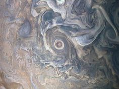 Intricate swirls in Jupiter's volatile northern hemisphere are captured in this image from NASA's Juno spacecraft. Bursts of scattered bright-white 'pop-up' clouds appear with some visibly casting shadows on the neighboring cloud layers beneath them. Jupiter Photos, Nasa Juno, Clouds Band, Juno Spacecraft, Storm Pictures, Advantages Of Solar Energy, Nasa Photos, Nasa Astronauts, Space And Astronomy