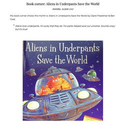 Book corner: Aliens in Underpants save the world
