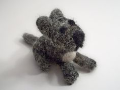 Tiny Wool Dog--sold--Handmade Dog Mini Terrier by FeltWithAHeart on Etsy