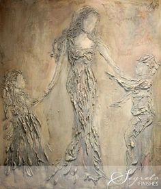Rachel Schwind- Segreto Gallery - Woman With Children - Plaster & Mixed Media on Panel Art Gallery, Artist Inspiration, Amazing Art, Art Projects, Art, Plaster Art, Canvas Art, Painting Projects, Texture Art