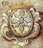 """BRASÃO DE D. AFONSO HENRIQUES - Na europa da idade média, no calor das batalhas, viver ou morrer dependia de saber distinguir o amigo do inimigo. Essa era uma tarefa difícil, com os cavaleiros cobertos por armaduras. Assim, cada combatente costumava decorar seu escudo e sua túnica com um distintivo único, que o diferenciava dos demais. Surge então a heráldica, nome proveniente do inglês """"heralds"""", que eram os homens encarregados pelos reis para desenhar os brasões."""