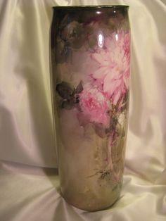 """""""Breathtaking"""" ~ Exquisite Large 15 1/2"""" Lenox Belleek Hand Painted Impressive Vase ~ Masterful Artwork talent Franz A. Bischoff, Franz B. Aulich, Circa 1906 -1924"""