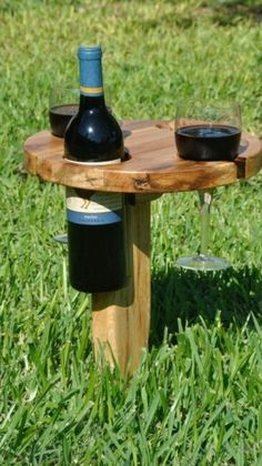 Picnic #wine table (holder) for sale here - http://www.adverts.ie/tables-chairs/picnic-wine-table-holder/5476238
