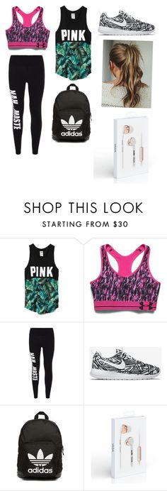 """Morning Run"" by mimigreenberg on Polyvore featuring Victoria's Secret, Under Armour, Private Party, NIKE, adidas Originals, women's clothing, women, female, woman and misses"