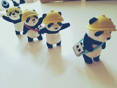 幼稚園児?パンダですー:cute pandas