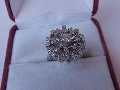 Woah gorgeous!!! But wildly expensive. Antique 14K White Gold ladies Ring:2.00cttw Diamonds,ART DECO,1930s
