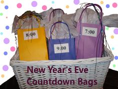 New Year's Eve Countdown gifts- to do with colten when he gets older
