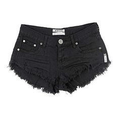 One Teaspoon Bonitas shorts in black moon (£76) ❤ liked on Polyvore featuring shorts and oneteaspoon