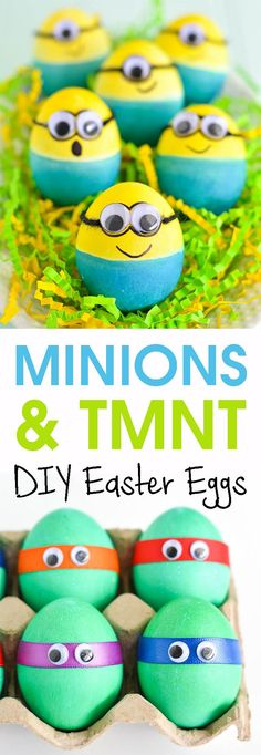 Who doesn`t like Minions? Those little and funny mini monsters grab everyone`s hearts! #easter #eastereggs #diy #diyeaster