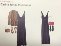 Loveappella Carlita Jersey Maxi Dress purple $68
