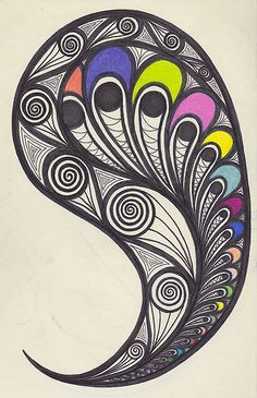 Paisley - would be cool tattoo if tweaked a bit