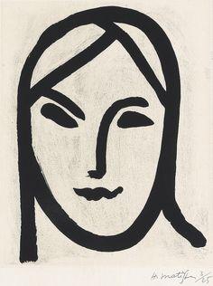 Henri Matisse (1869-1954), 1947, Bedouine, Figure aux bandeaux, Aquatint on Chine collé.