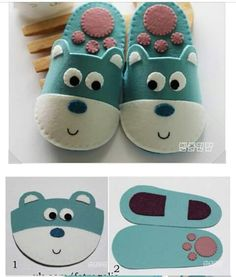 Diy Home Crafts, Sewing Crafts, Sewing Projects, Baby Shoes Pattern, Shoe Pattern, Felt Diy, Felt Crafts, Baby Shawer, Diy Baby