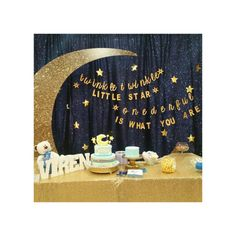 First Birthday Party Banner. Onederful Birthday Party. Twinkle Twinkle Little Star Banner. Gold. One Year Old Birthday Party.
