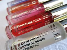 Milani Moisture Lock Oil Infused Lip Treatments Are The BEST! I Got Protecting Pomegranate