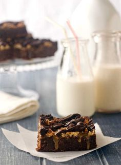 "Gluten Free Caramel- Pecan Brownies.  I think this might be the next ""must do this with brownies"" recipe!"