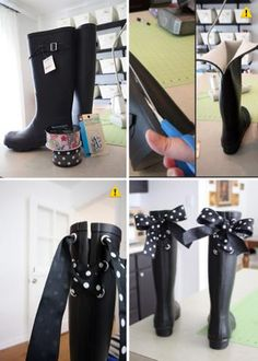 Diy add rainboot lace. Use Walmart boots.