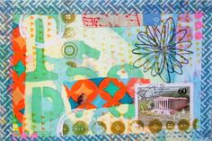 DIY Postcard by Johanna in South Florida, for iHanna's DIY Postcard Swap spring 2015 #diy #diypostcardswap