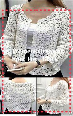 Crochet Backpack Pattern, Crochet Gloves Pattern, Crochet Cardigan Pattern, Crochet Jacket, Crochet Blouse, Crochet Shawl, Crochet Patterns, Crochet Ideas, Knitting Patterns