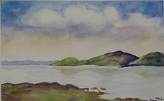 Marin County Bay a watercolor by Kathleen Friedman
