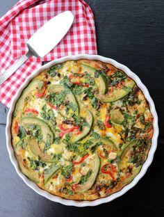 Middagsomelett med potet & avokado - LINDASTUHAUG Vegetable Pizza, Quiche, Wellness, Food And Drink, Vegetables, Eat, Breakfast, Omelette, Veggies
