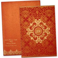 Latest Trendy Indian Wedding Card Design in Orange Color Marriage Invitation Card, Marriage Cards, Wedding Invitation Card Design, Indian Wedding Invitations, Wedding Stationery, Wedding Card Design Indian, Indian Wedding Cards, Wedding Ring Designs, Gujarati Wedding