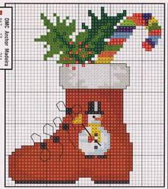 Xmas Cross Stitch, Cross Stitch Charts, Cross Stitching, Cross Stitch Embroidery, Embroidery Patterns, Cross Stitch Patterns, Christmas Charts, Christmas Tree Pattern, Diy Christmas Ornaments