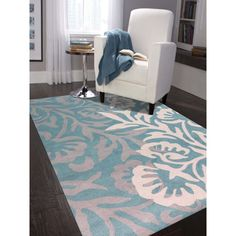 Hand-Tufted Gabriel Teal Blended New Zealand Wool Area Rug (8' x 11') (8x11, Teal), Blue, Size 8' x 11' (Cotton, Abstract)