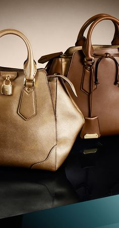 New Autumn/Winter 2013 Burberry bags in earthy tones