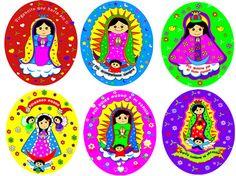 Dibujos de caricaturas de la Virgen de Guadalupe - Imagui