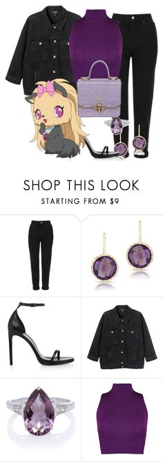 """""""Topaz"""" by blueangel16-001 ❤ liked on Polyvore featuring Topshop, Anne Sisteron, Yves Saint Laurent, Monki, WearAll and Trussardi"""