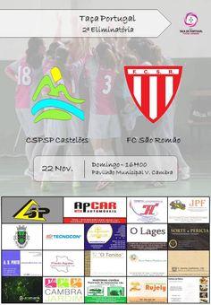 Futsal: CSPSP Castelões vs FC São Romão > 22 Novembro 2015, 16h00 @ Pavilhão Municipal, Vale de Cambra  _Taça Portugal | Futsal Feminino_