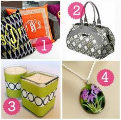 Preppy Mama :: So polished! Throw Pillws, Petunia Pickle Bottom Weekend Bag, Soy Candles - Etsy, Water Lily Necklace