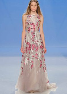 dresses for Lori's wedding! oh no 2018 wedding trends - coloured Wedding Favors: Important Things Y 2018 Wedding Dresses Trends, Sweet Wedding Dresses, Colored Wedding Dress, Formal Dresses, Wedding Dress Silhouette, Designer Evening Dresses, Bridal Fashion Week, Couture Dresses, Beautiful Gowns