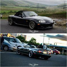 By @status_unknown #statusunknown /@gee_azam's NB x @cameronhendersonphoto's NA   #TopMiata #mazda #miata #mx5 #eunos #roadster
