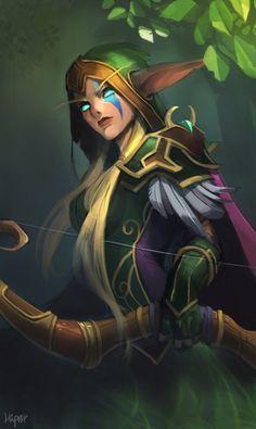 World Of Warcraft - Alleria Windrunner Art Warcraft, World Of Warcraft 3, Elves Fantasy, Fantasy Races, Fantasy Fairies, Fantasy Character Design, Character Art, Fantasy World, Fantasy Art
