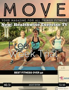 Healthwise Exercise TV award winning  #fitness for over #50. As seen in Magazines, PBS TV and now online.  Free 2 Week Trial. Check it out to Activate Your Health Fun Workouts, At Home Workouts, Pbs Tv, Fitness Online, Tv Awards, Release Stress, You Magazine, Improve Posture, Fitness Design