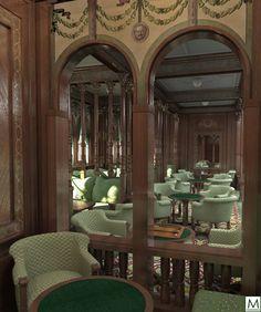 (Gallery) Mauretania Smoking Room 3D images