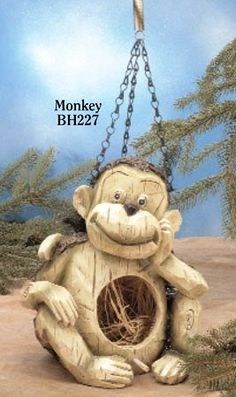 Special Offers - Natural Monkey Birdhouse - In stock & Free Shipping. You can save more money! Check It (August 30 2016 at 07:27AM) >> http://birdhouseusa.net/natural-monkey-birdhouse/