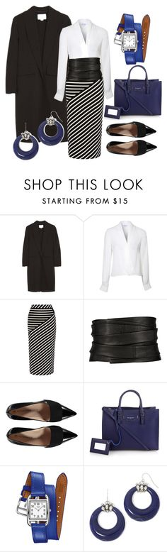 """""""Legal Eagle"""" by bsimon-1 ❤ liked on Polyvore featuring Alexander Wang, Lipsy, Karen Millen, The Row, Balenciaga, Hermès and Mixit"""
