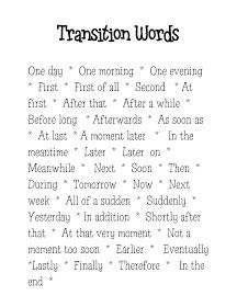Transition words for narrative writing are different than those used for expository writing. I would do a mini lesson on narrative transition words, and I would have students keep this in their writing folders as a reference source. Writing Words, Writing Lessons, Writing Resources, Teaching Writing, Writing Activities, Writing Skills, Essay Writing, Writing A Book, Writing Tips