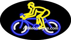 "Bicycle Flashing Neon Sign-ANSAR14325  Dimensions: 17""H x 30""L x 3""D  Custom colors ship in 5-7 business days  110 volt flasher transformer  Cool, Quiet, and Energy Efficient  Hardware & chain are included  Comes standard with 6' power cord  Indoor use only  1 Year Warranty/electrical components  1 Year Warranty/standard transformers."