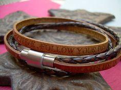 Follow your Dreams Double Wrap Leather by UrbanSurvivalGearUSA