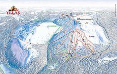 YlläsSki - rinnekartta / Yllas-Ski slope map