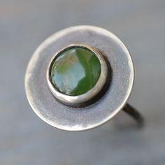 Jade Sterling Silver Cassini Ring by Lara