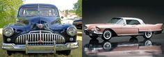 Post war Cars With Metal Bumpers Integrated In Body