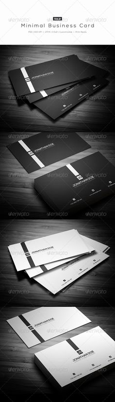 Minimal Business Card Vol.2 - #Creative #Business #Cards Download here: https://graphicriver.net/item/minimal-business-card-vol2/6745187?ref=alena994