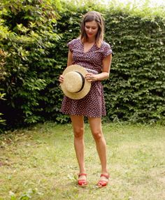 Summer dress, and clogs from Lotta